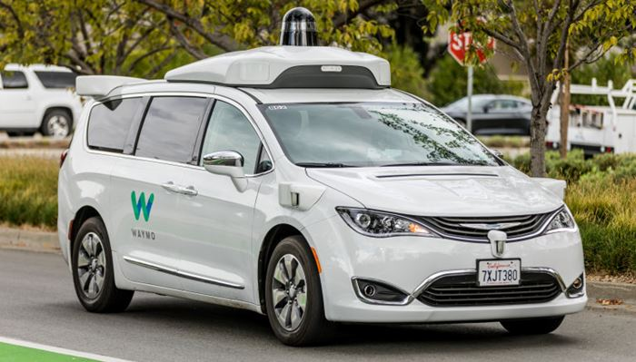 Waymo Chrysler Pacifica Hybrid self-driven car