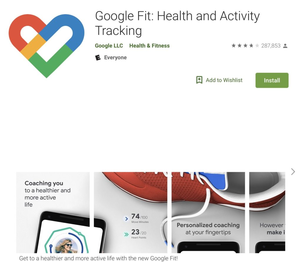 google fit - fitness apps