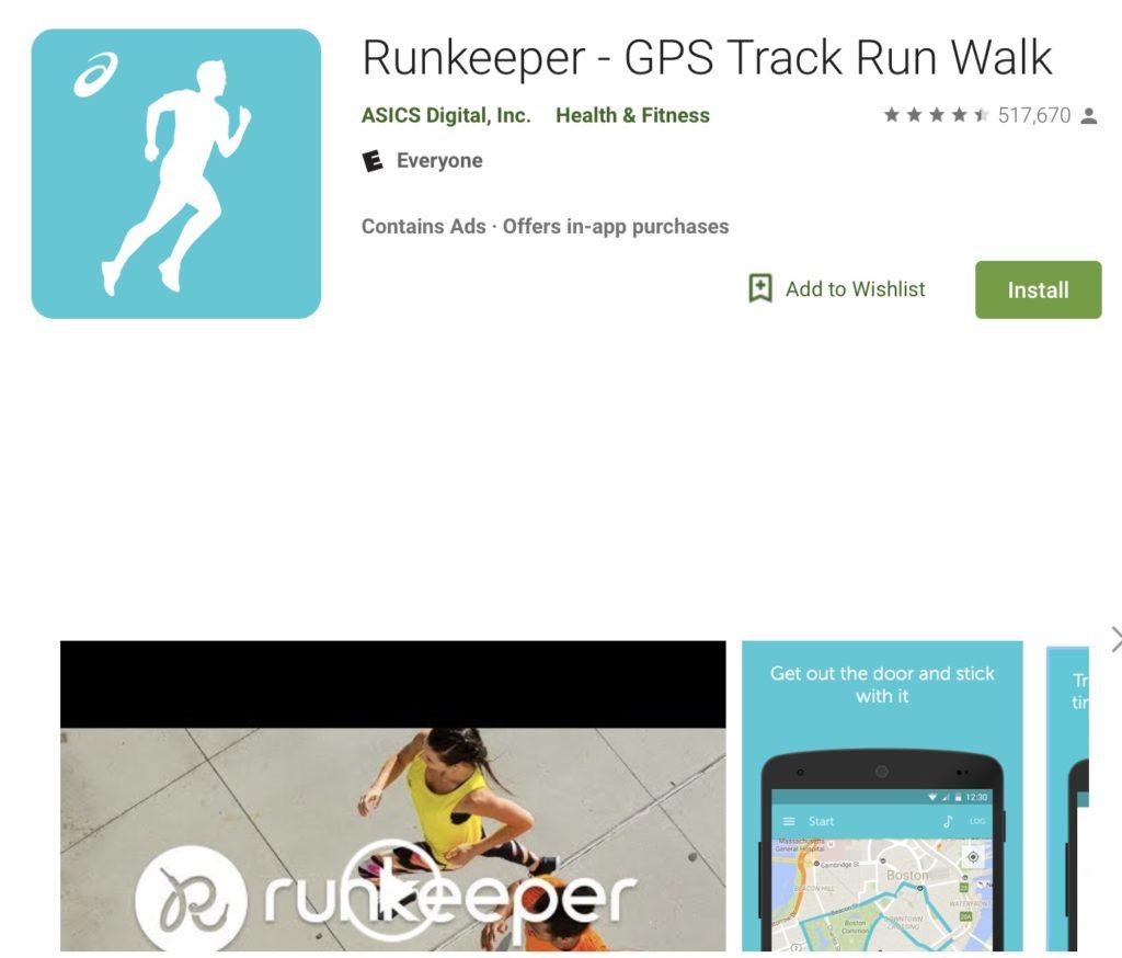 Runekeeper, fitness apps